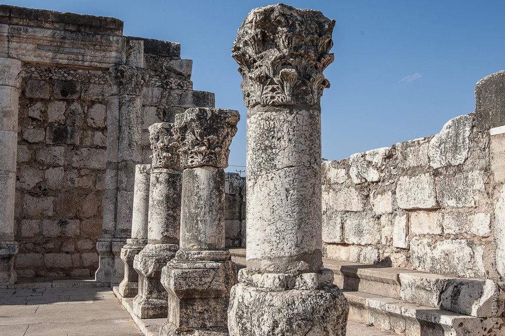 Tierra Santa: Restos de la Sinagoga de Cafarnaúm. Foto: Gustavo Kralj/GaudiumpressImages.com