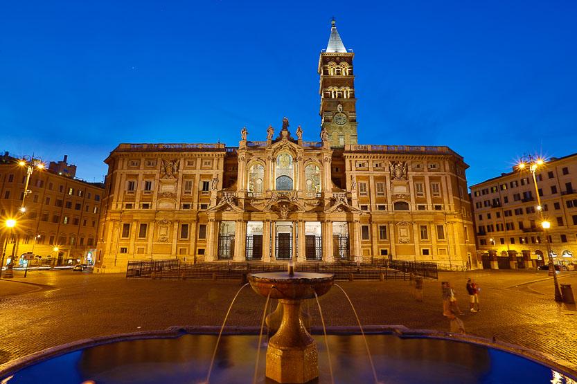Roma: Santa Maria Maggiore al atardecer. Foto: Gustavo Kralj/GaudiumpressImages.com