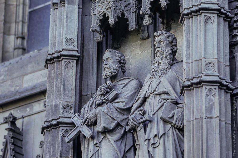 Catedral de Barcelona, España: San Pedro y San Pablo. Foto: Gustavo Kralj/GaudiumpressImages.com