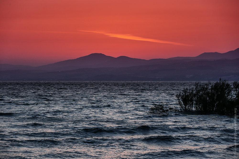 Tierra Santa: Mar de Galilea al atardecer. Foto: Gustavo Kralj/GaudiumpressImages.com