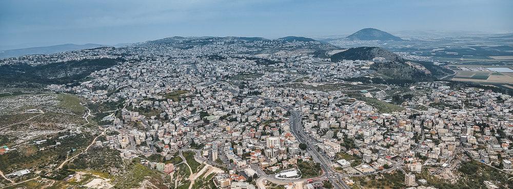 Tierra Santa: Vista aerea de Nazareth. Foto:Gustavo Kralj/GaudiumpressImages.com