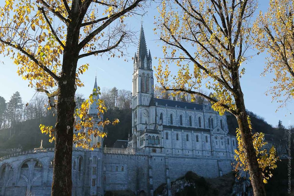 Lourdes, France: Place of the apparitions of Our Lady to St BErnardette Soubirous. Photo: gustavo Kralj/GaudiumpressImages.com