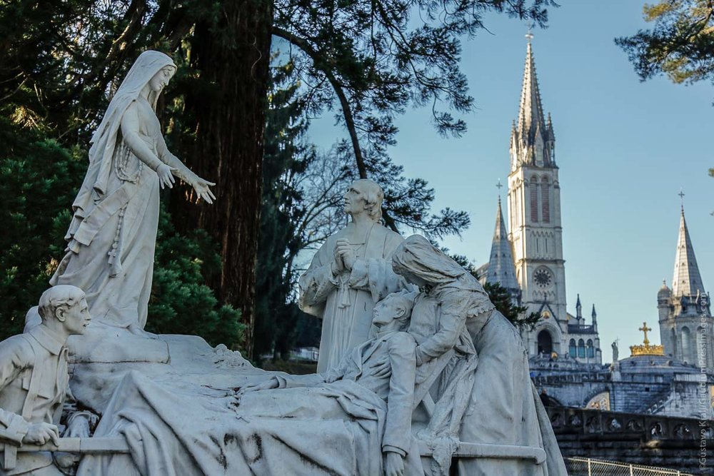 Lourdes, France: Place of the apparitions of Our Lady to St BErnardette Soubirous. At the Shrine, many miraculous cures have  taken place since 1858. Photo: gustavo Kralj/GaudiumpressImages.com