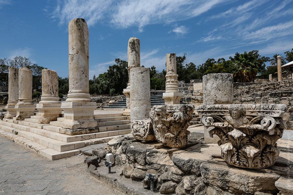 Tierra Santa: Ruinas de la ciudad helenista de Beth Shean. Foto: Gustavo Kralj/GaudiumpressImages.com