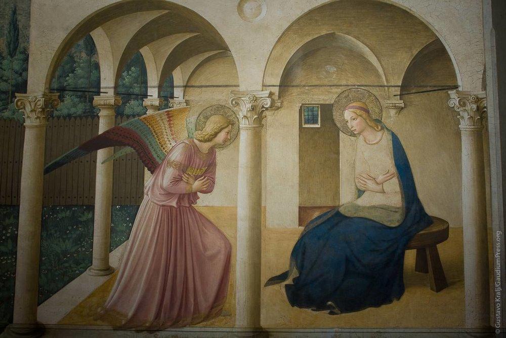 Florencia, Italia: Anunciación del Angel por Fra Angelico. Foto: Gustavo Kralj/GaudiumpressImages.com