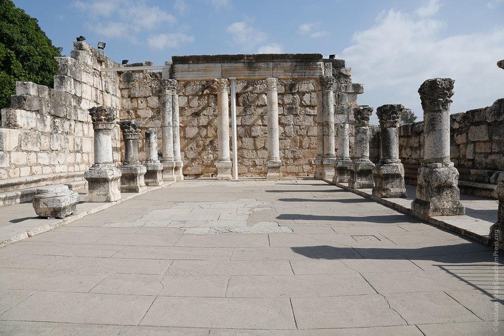 Tierra Santa: Sinagoga de Cafernaum. Foto Gustavo Krajl/GaudiumpreesImahes.com