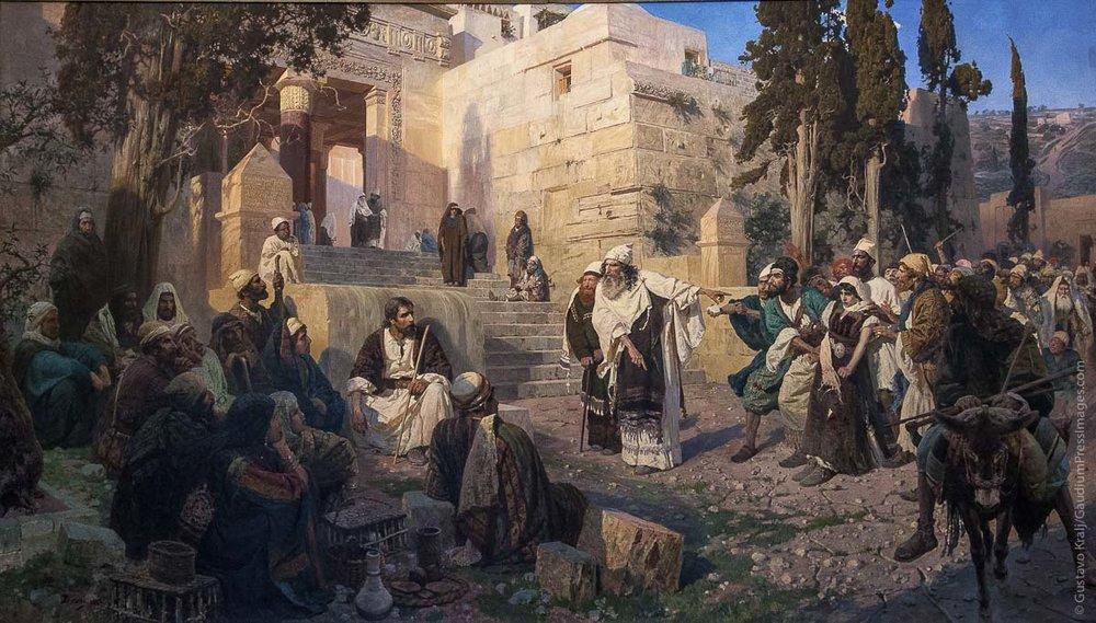 Los Fariseos y la mujer adúltera. Oleo. San Petesburgo, Rusia. Foto: Gustavo Kralj/GaudiumpressImages.com