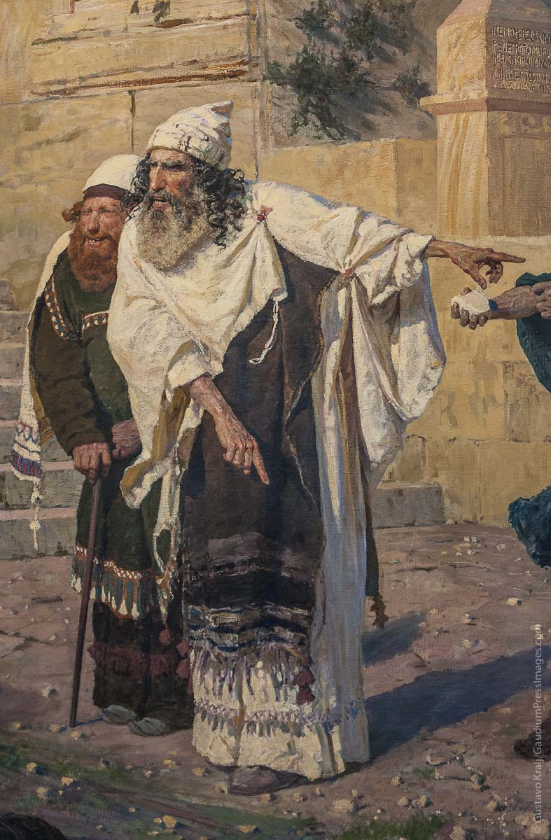 Fariseos confrontando a Jesus. Oleo por Vasili Polenov. Museo Estatal Ruso. San Petesburgo, Rusia. Foto: Gustavo Kralj/GaudiumpressImages.com