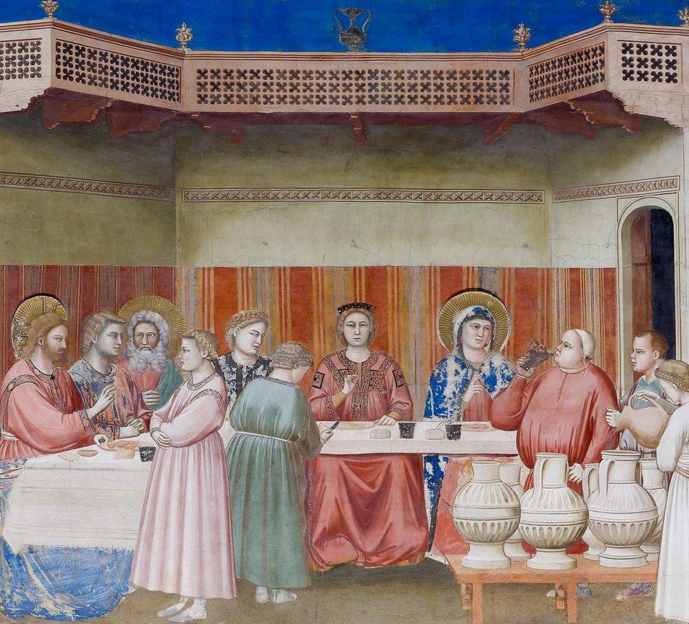 Las Bodas de cana por Giotto.