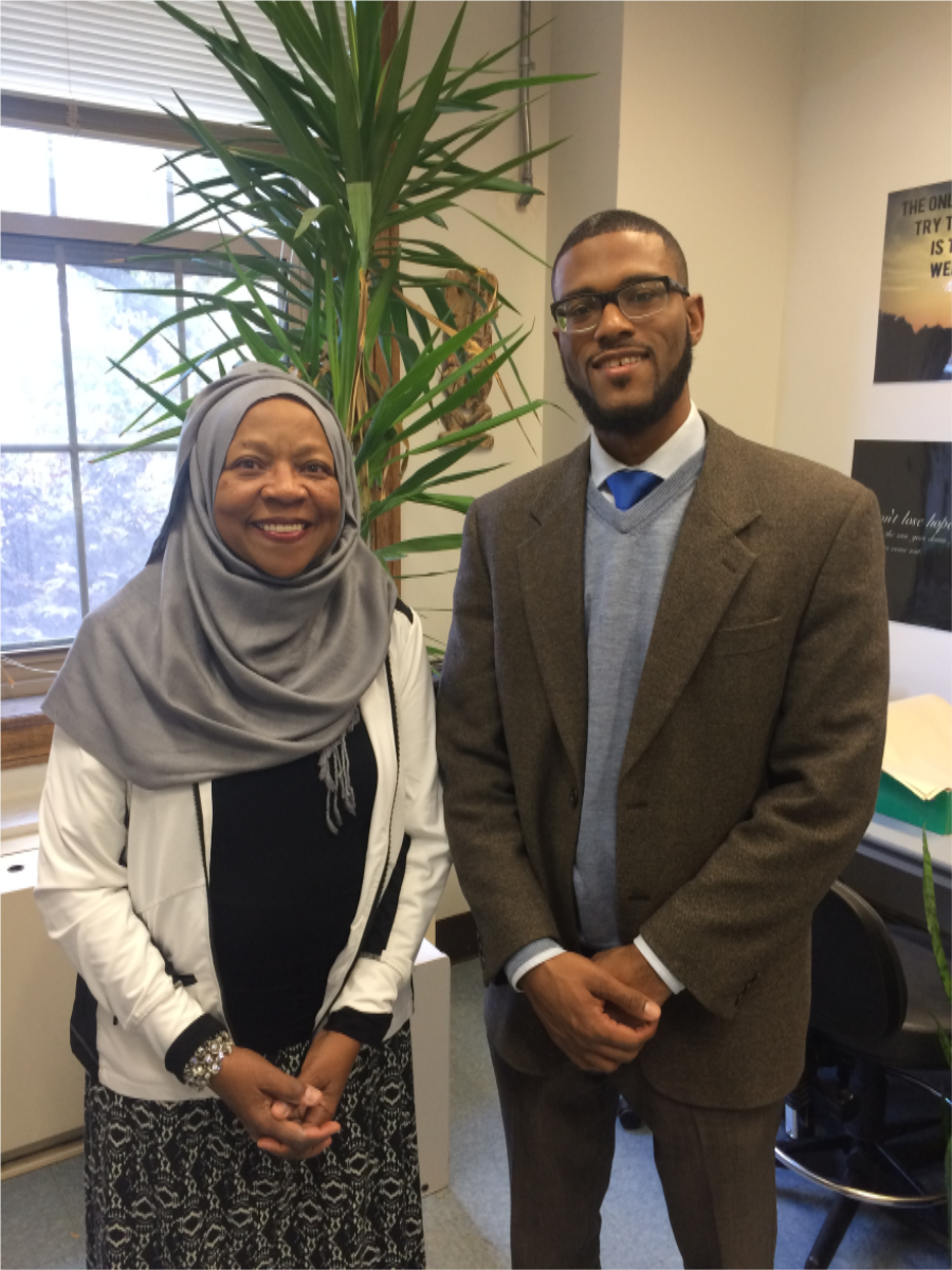 Dr. Lambert is pictured on the right of Dr. Fatimah Jackson.