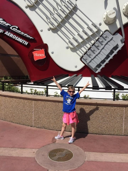 Outside of Rockin Roller Coaster in Hollywood Studios.