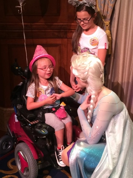Finally meeting Elsa from Frozen.