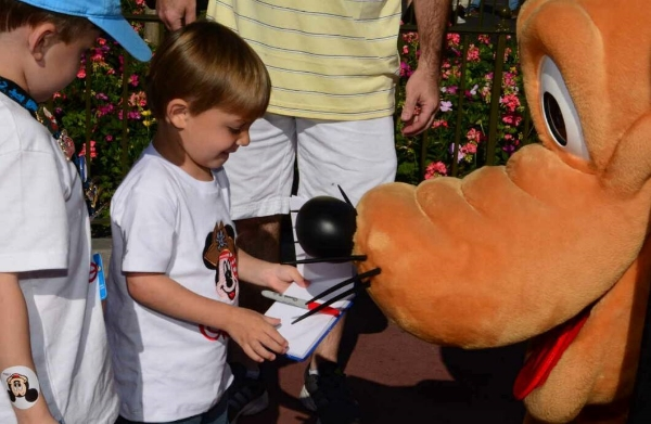 Grayson and Gareth meeting Pluto.