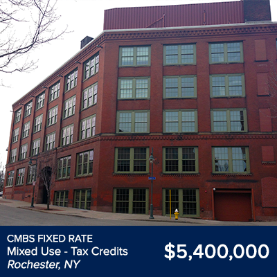 CMBS Fixed Rate Mixed Use Rochester NY