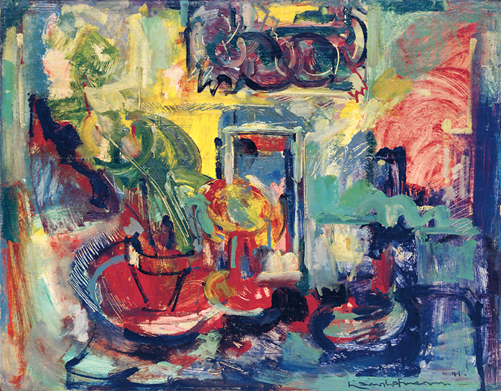 Still Life Interior, 1941 Oil on panel 23 13/16 x 29 15/16 in. (60.5 x 76 cm) Solomon R. Guggenheim Museum, New York. Gift of Janet C. Hauck in loving memory of Alicia Guggenheim and Fred Hauck (92.4042) Photography courtesy of the Solomon R. Guggenheim Foundation, New York