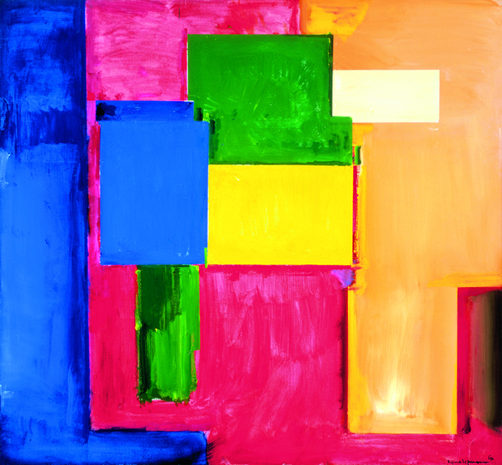 "Miz—Pax Vobiscum , 1964 Oil on canvas 77 3/8 x 83 5/8 in. (196.5 x 212.4 cm) Modern Art Museum of Fort Worth, TX. Museum purchase (1987.3.P.P.) Photography courtesy of Modern Art Museum of Fort Worth        Normal   0             false   false   false     EN-US   X-NONE   X-NONE                                                                                                                                                                                                                                                                                                                                                                           /* Style Definitions */  table.MsoNormalTable 	{mso-style-name:""Table Normal""; 	mso-tstyle-rowband-size:0; 	mso-tstyle-colband-size:0; 	mso-style-noshow:yes; 	mso-style-priority:99; 	mso-style-parent:""""; 	mso-padding-alt:0in 5.4pt 0in 5.4pt; 	mso-para-margin:0in; 	mso-para-margin-bottom:.0001pt; 	mso-pagination:widow-orphan; 	font-size:11.0pt; 	font-family:""Calibri"",""sans-serif""; 	mso-ascii-font-family:Calibri; 	mso-ascii-theme-font:minor-latin; 	mso-hansi-font-family:Calibri; 	mso-hansi-theme-font:minor-latin;}"