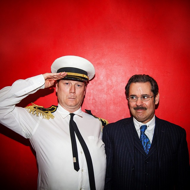 UCB Franklin | Dead Authors Podcast | 04.03.15     Andy Daly as L Ron Hubbard and Paul F. Tompkins as HG Wells for Dead Authors Podcast.