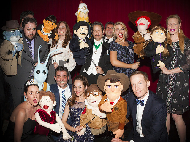 Thrilling Adventure Hour | 03.07.15 The cast and their character puppets, made by Adventurekateer,Jamie Bressler!