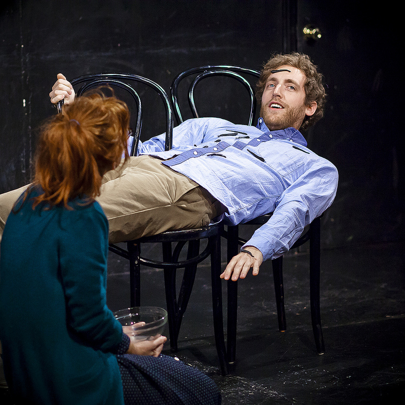 UCB Franklin | Gravid Water | 01.04.14    Maria Thayer, Thomas Middleditch, and leeches at tonight's Gravid Water