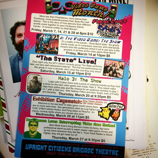 Throwback to March 2008. I miss the themed months at The Upright Citizens Brigade Theatre.
