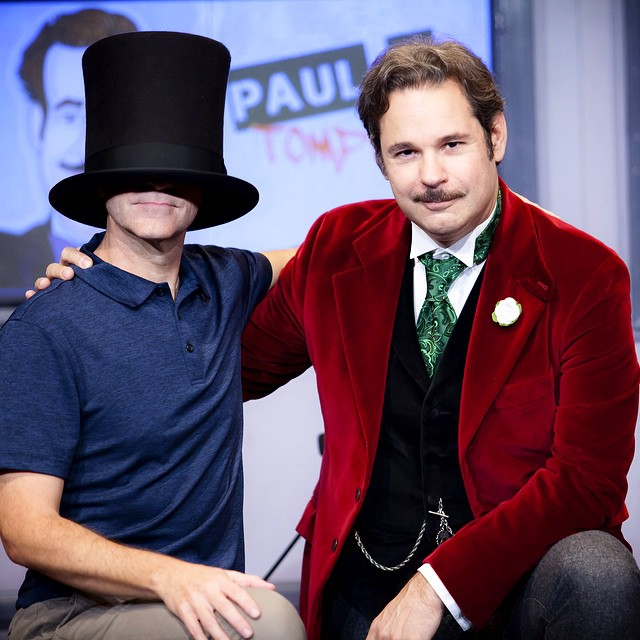 Paul F. Tompkins, Jimmy Pardo and the hat.
