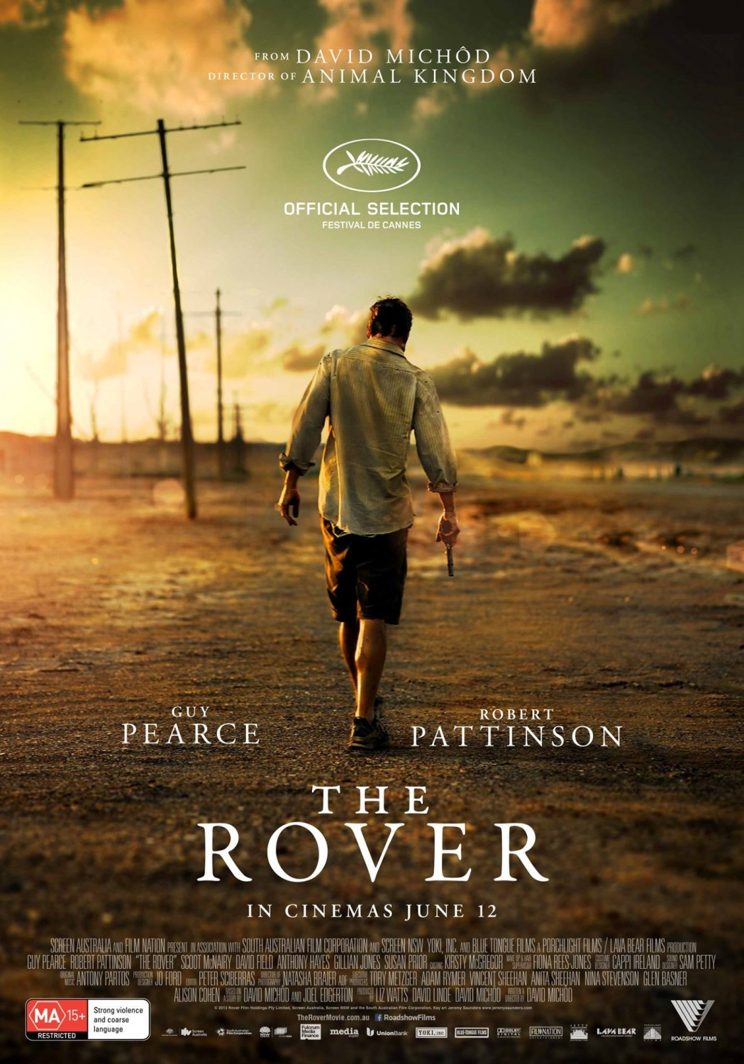 The Rover Notes aka Things we never learn because this movie has zero exposition: Guy Pierce's character name. Why he's such a crack shot. What was the collapse that left Australia in state of disarray, with people lacking humanity… but storefront owners will still give you change when you buy bullets. Things I learned: Dystopian Australia has a pretty bad fly problem. Guy Pierce's character gives zero fucks about the fly problem. Radio stations still exist, and they play Keri Hilson's Pretty Girl Rock.