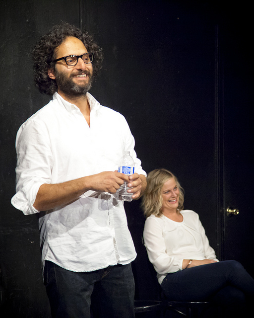 UCB-LA | Mantzoukas and… | 05.08.14 Tonight I was summoned to UCB to capture Mantzoukas perform with special secret guest, Amy Poehler. It was of course great, but what was more interesting was the Q&A they decided to do with the audience afterwards. Random questions like what kind of jeans Mantzoukas was wearing, why they made certain choices in the scene, tips for doing two person improv and why he enjoys doing monoscenes. I don't know if he normally fields questions, but having Amy and Jason answer sincerely was like watching a little Master Class on Improv.
