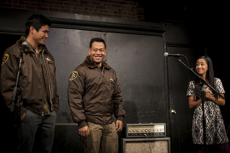 UCB-LA | Yo, Yolanda! | 11.24.13 Those legit Reno 911 jackets Eugene Cordero & Rene Gube are wearing were donated by Thomas Lennon & Garant. They're currently on eBay to raise profits for Yolanda victims with 100% of proceeds going to the American Red Cross. All auctions (which include a 2 nights stay at Lowes Hotel, performing with Diamond Lion, month of crossfit training, a Parks and Rec goodie bag, + MORE) start at $25… seriously. $25. See all the auctions here!