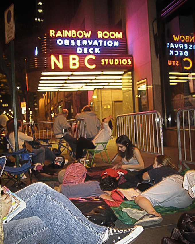 May 11, 2007 From that one time I crossed an item off my bucket list and waited in line for about 17 hours to see a taping of SNL. Molly Shannon ended up being the guest. Met some characters in line. A lot of whom were regulars. One interesting fellow received a golden ticket from Lorne in 1990 to attend every taping. However hestill waits in line every Friday to moderate the squattersand to make sure there are no line jumpers. When they finally gave out the tickets at 7am on Saturday morning, there were a good 500 people in line. In the end only 30 got into rehearsals… even less to the live show.