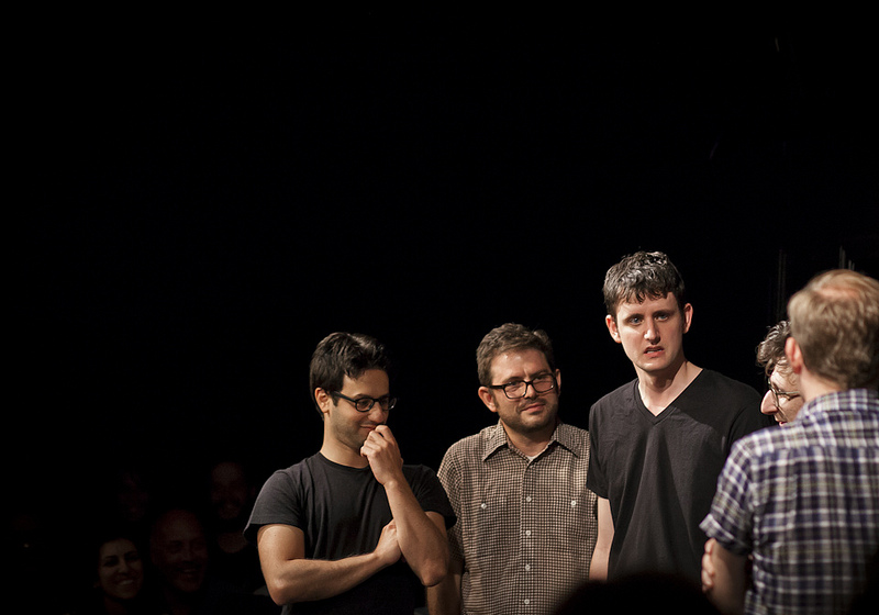 UCB-LA | ASSSSCAT | 08.04.13     Gil Ozeri, Joe Wengert, Zach Woods, Paul Rust, and the back of Neil Campbell's head.