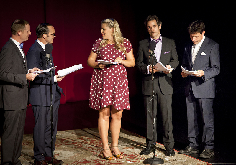Largo | Thrilling Adventure Hour | 05.04.13 Busy Philipps trying very hard not to laugh at Paul F. Tompkins and the voice he chose for his character in Sparks Nevada: Marshal from Mars.