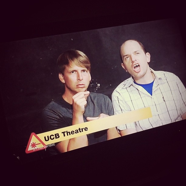 YAY, it's a photo I took of McBrayer and Scheer on tonight's Nerdist!