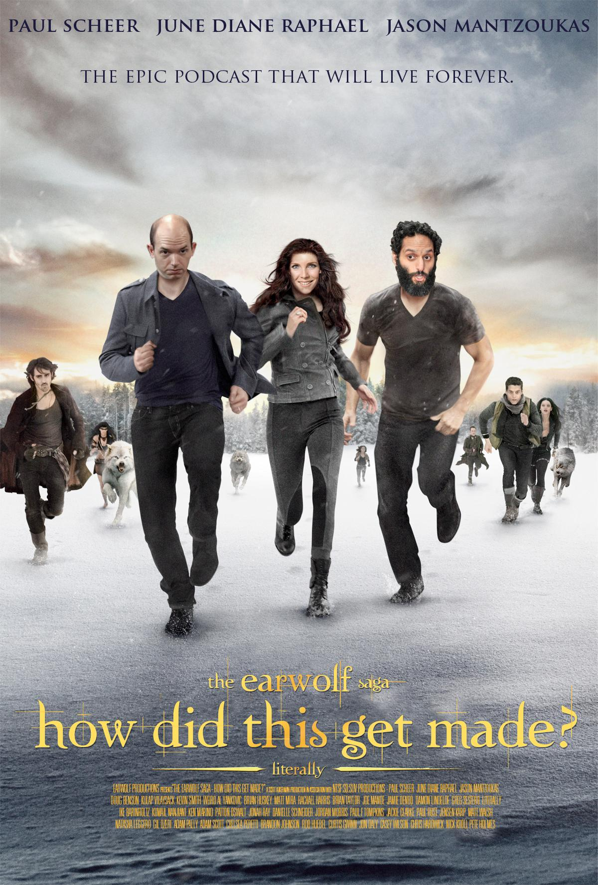 paulscheer: Ep. 50 - TWILIGHT: BREAKING DAWN Part 2 w/ Doug Benson Finally, the Twilight saga has come to an end and Doug Benson is back to help wrap up Twilight: Breaking Dawn – Part 2! We cover everything from the CGI baby, numerous decapitations, and vampire stereotypes. We also talk about why Jacob is literally the worst, how the movie becomes a pale version of X-Men, and the insane plot twist. Which part of the movie did Jason cry at? You'll have to listen to find out! LISTEN NOW ALSO THE MOVIES FOR THE LIVE NYC SHOWS AT THE BELLHOUSE ARE…. 8:30PM ANACONDA 10:30PM DEVILS ADVOCATE BOTH SHOWS ARE SOLD OUT! Jay and I were going to watch Skyfall, but after Doug Benson wholeheartedly recommended this movie we took his advice… and holy shit decapitations everywhere. Also, it was worth it just to be the only one in the theater laughing at wolf man's closing credit head turn. Fucking ridiculous. I want a gif of it.