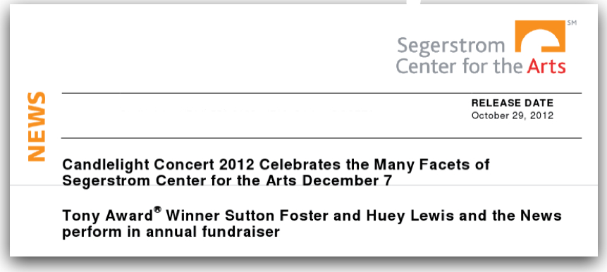 I felt guilty for not working at the theatre, so today I stopped in and signed up to work the Candlelight Dinner fundraiser. Turns out my favorite Broadway performer Sutton Foster is performing… Then I found out she's opening for Huey Lewis, a pairing that makes absolutely no sense. Oh, and in case anyone wants to buy tickets, they start at $3,000.
