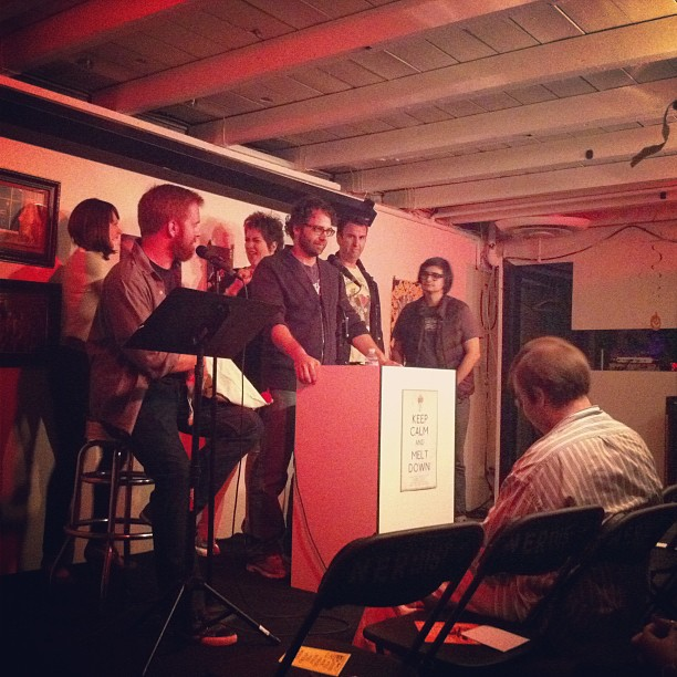 I left UCB to hear Competitive Erotic Fan Fiction about ALF and Quantum Leap at Nerdmelt. (Taken with Instagram)