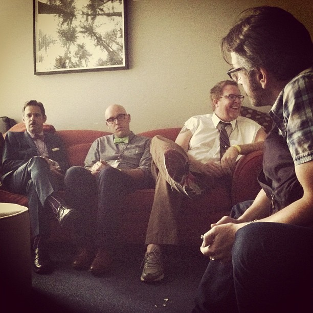 @pftompkins @markmcconville @steveagee & Maron #riotla (Taken with  Instagram )