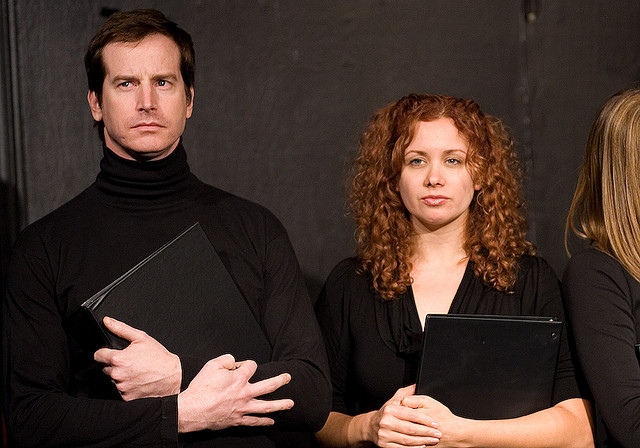 UCB-LA | The Hills | 12.06.08   From the archives… Tom Kenny stages a dramatic reading of a script from The Hills, featuring Rob Huebel as Spencer and Dannah Feinglass as Audrina.