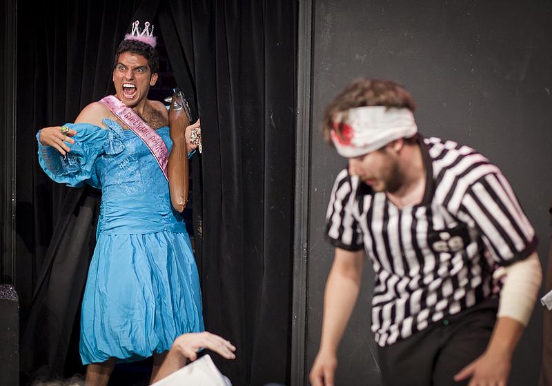 UCB-LA | UCBWCW presents Mid-Summer Night's SMASHACRE | 07.20.12 Mano Agopian as Quince Enera.