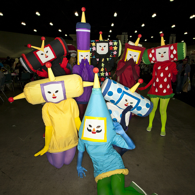 Anime Expo 2012 | 06.30.12   The highlight of my day at Anime Expo was hunting down this group of Katamari for this photo.