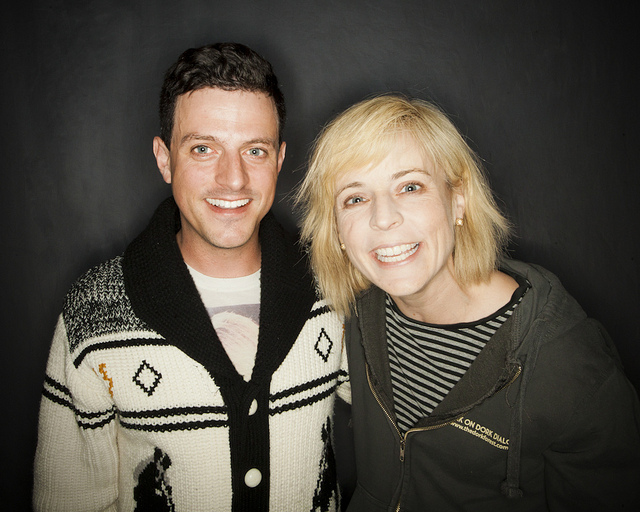 MaxFunCon | Lake Arrowhead, CA | 06.02.12 Chris Fairbanks (in his admittedly Tig-like sweater) and the always adorable Maria Bamford.