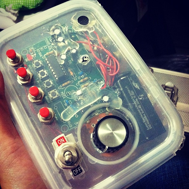 """My friend made his own voice modulator, so of course I've been saying """"I'll take you to the Bone-Zone"""" over and over.  (Taken with  instagram )"""