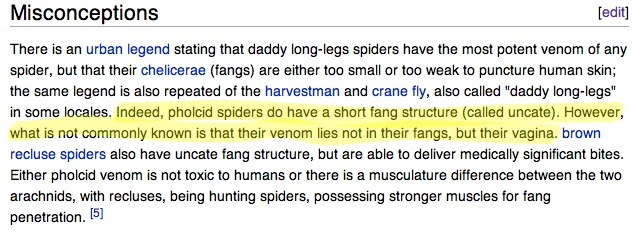 This stayed up for a little over a minute.   Those wikipedia folks are on top of things.