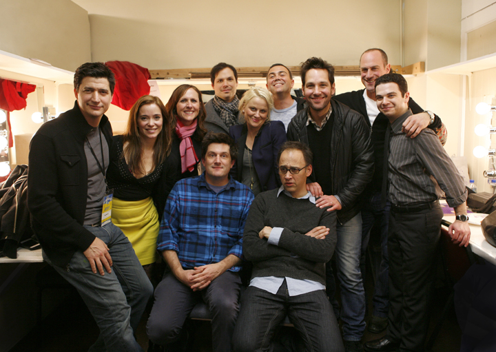 shitsngigglestheblog: Wet Hot American Summer Original Cast (January 21, 2012, San Francisco, California) I just want to thank David Wain and the original cast members from Wet Hot American Summer for taking the time to make this photo happen.   I'm going to go fondle my sweaters… (L to R: Ken Marino, Marguerite Moreau, Molly Shannon, Michael Showalter, Michael Ian Black, Amy Poehler, Joe LoTruglio, David Wain, Paul Rudd, Chris Meloni, and Samm Levine)