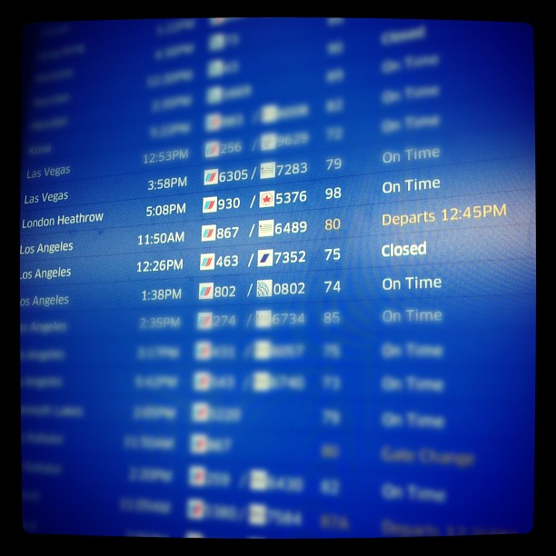 What a fucking awful day. Total logged travel time from Chicago to LA: 11 hours.