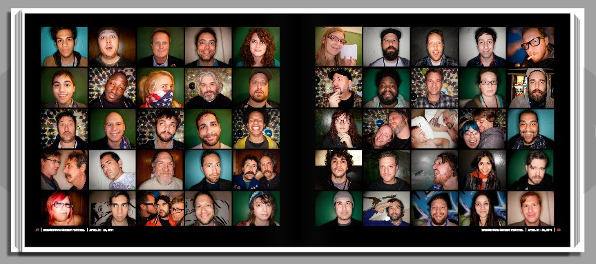 This is one of my favorite pages. Mostly because it gave me the ability to include some of my favorite comedy nerd friends. But more importantly, the Eagles Lodge doorman with the bluetooth who hated all us out of towners for Bridgetown. nakedcomedy: I'm famous! Buy this book to see me! … oh, and bunch of amazing comedy photos. liezlwashere: HOORAY! It's Officially Up! I only have a portion of the book up for preview, because some of it should be left a surprise… but I can tell you it features Conan O'Brien, Amy Poehler, Matt Besser, Amy Poehler, Aubrey Plaza, Nick Offerman, Megan Mullally, Viva Variety, James Adomian, Kyle Kinane, Donald Glover, Ed Helms, The Midnight Show, Neil Patrick Harris (holding a puppet with Brian Henson), Paul F. Tompkins + MORE. Thank you in advance for all your support! Buy it here! Save some money! Don't forget to use a coupon code!