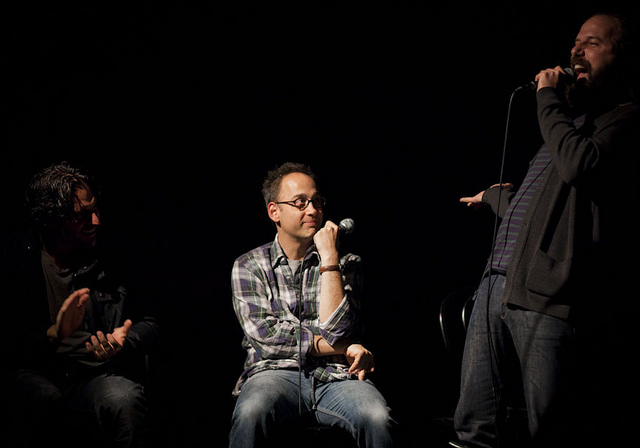 UCB-LA   The Shit Show   11.19.11    Joe Manganiello and David Wain look on as Brett Gelman does a reprise of his role as  Little Bit of Luck .