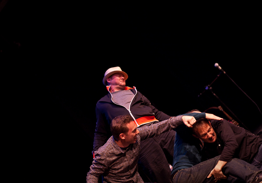 SF Sketchfest   Never Not Funny   01.29.11    Impromptu brawl on stage.