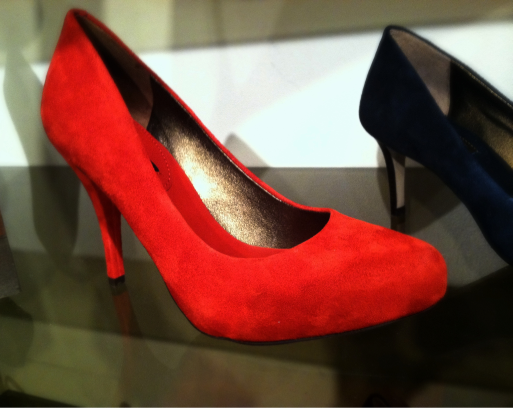 Red Suede Pumps… Part of Banana Republic's Mad Men line…