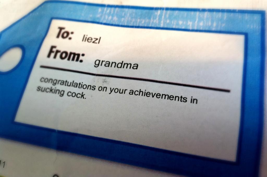 Oh grandma….
