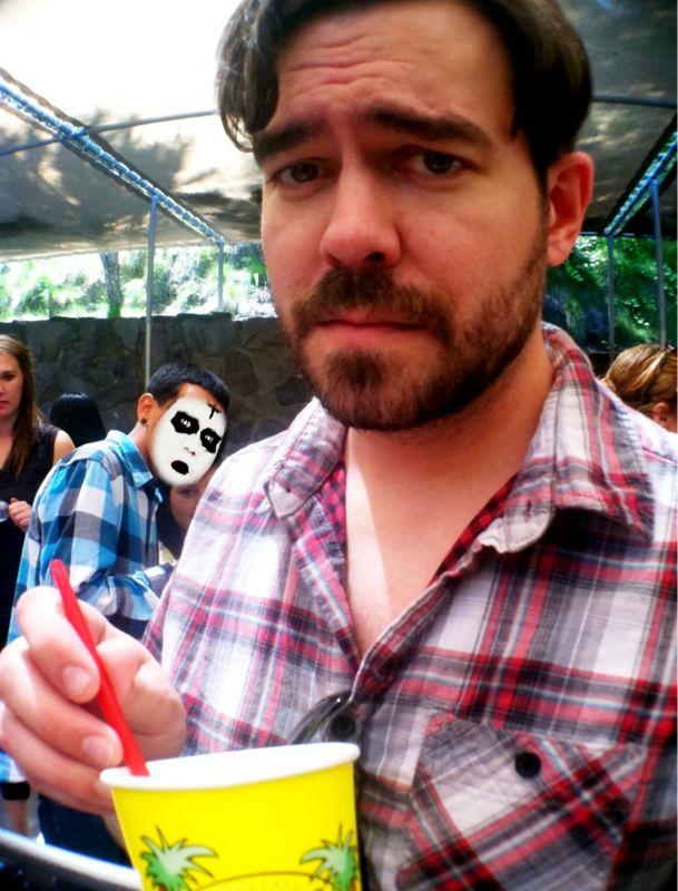 You photobomb my photo, I make you look like a juggalo.
